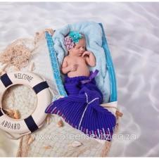Newborn baby mermaid
